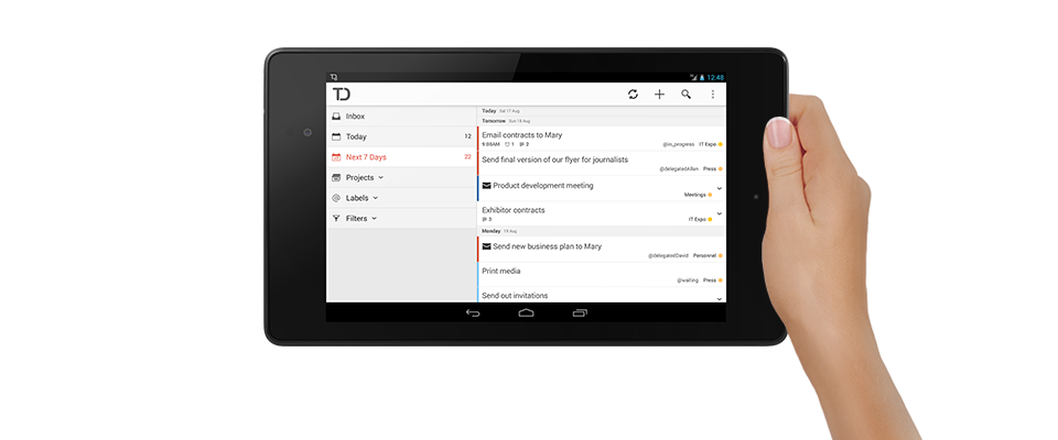 To-do list for Android Tablet