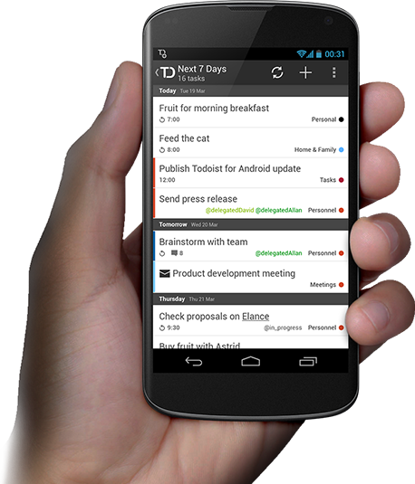 To-do list for Android