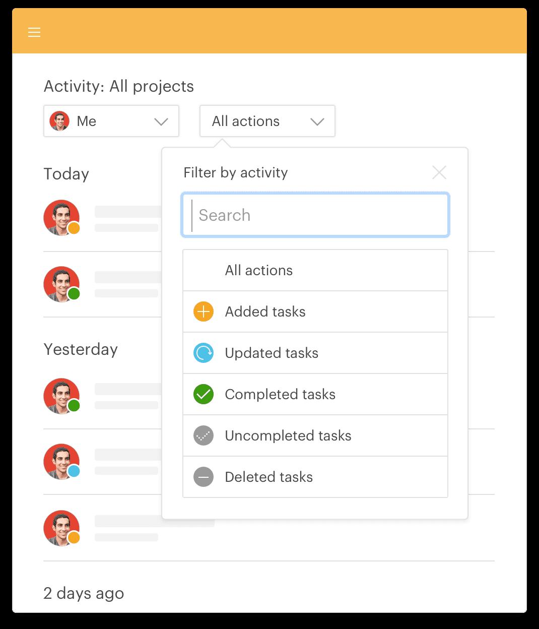 Få et overblik over al aktivitet på din konto