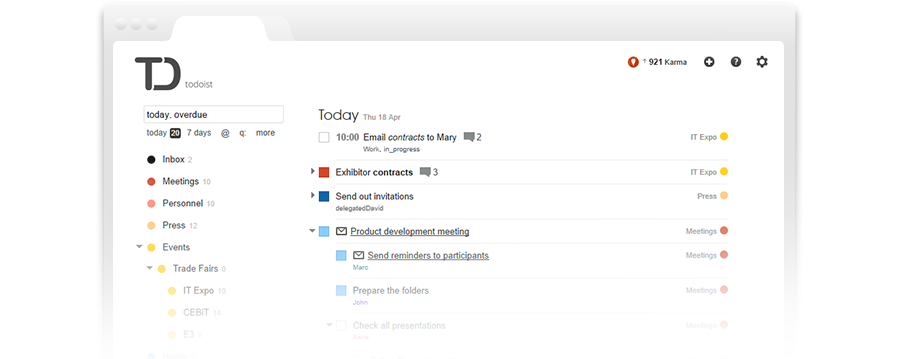 Todoist: Free online todo list and task manager