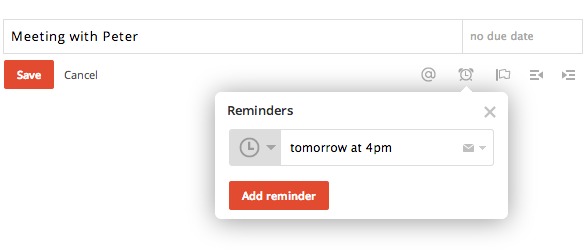 Manage reminders