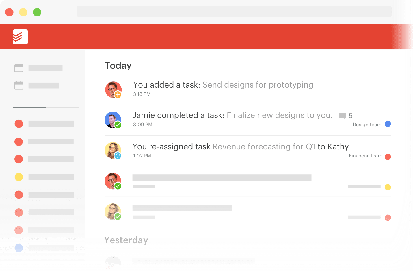 Keep projects on track