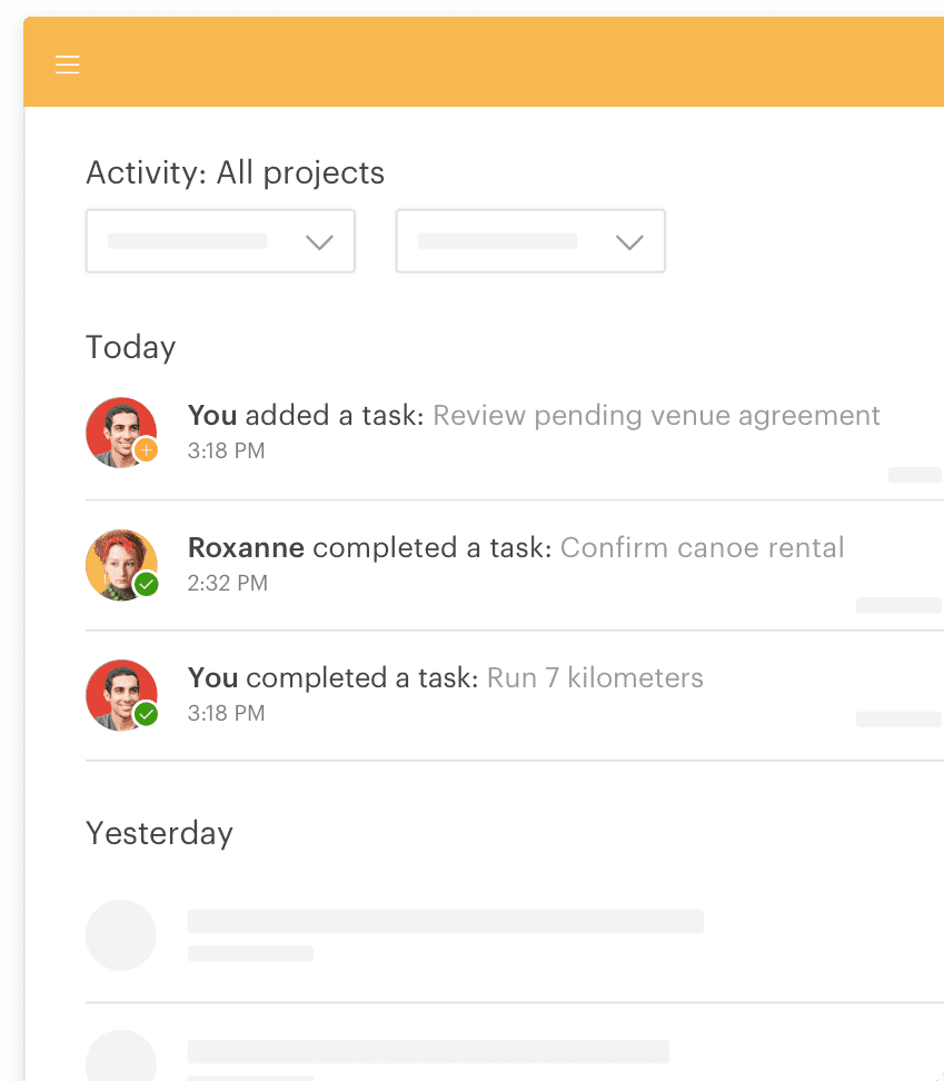 Review all your completed tasks